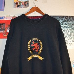 Vintage 90s Knit Tommy Hilfiger crewneck sweater